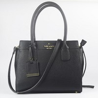 Hot Sale Kate Spade Fashion Shopping Leather Tote Handbag Shoulder Bag Color Black