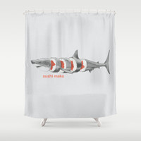 Sushi Mako Shower Curtain by Eric Fan