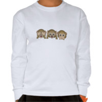 Three Wise Monkeys Emoji T Shirts