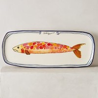 Sardina Large Platter by Anthropologie in Assorted Size: Large Platter Kitchen