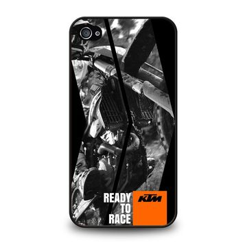 KTM MOTORCYCLE READY TO RACE iPhone 4 / 4S Case