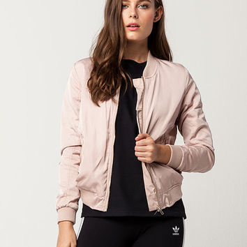 IVY & MAIN Matte Satin Womens Bomber Jacket | Jackets