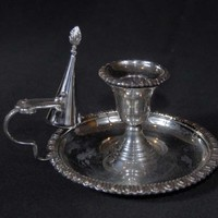 Canonbury - English Victorian Silver Plate Candle Holder