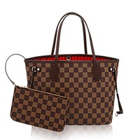 Womens Classic Canvas Neverfull Top-Handle Tote Bag Large Volume Shoulder Bag