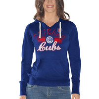 Chicago Cubs Ladies Rivalry Pullover Hoodie - Royal Blue