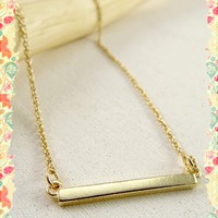 Itty Bitty Bar Necklace