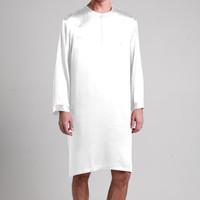 100% Mens Short Silk Nightshirt, Quality Chinese Silk Robes for Men