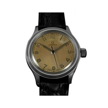 1947 Omega Vintage Ref. 2179/4 Large Mens Watch, Stainless Steel - Military Style Watch