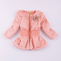Mia Belle Baby Pink Faux Fur Jacket - Toddler & Girls | Something special every day