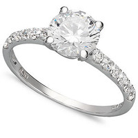 Arabella 14k White Gold Ring, Swarovski Zirconia Wedding Ring (2-3/4 ct. t.w.) - Rings - Jewelry & Watches - Macy's