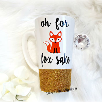 For Fox Sake Latte Mug