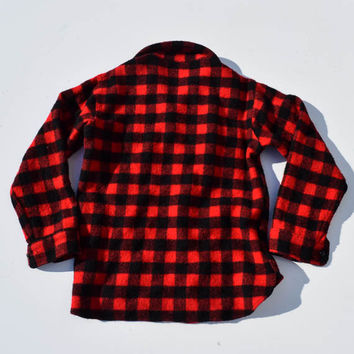 Vintage Red Buffalo Plaid Shirt for Men or Women by Woolrich Medium Size