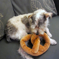NYC Pretzel Dog Toy w/ Squeaker