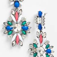 Tildon Jewel Cluster Chandelier Earrings