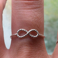 Sterling Silver Infinity Stacking Ring