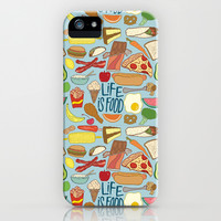 LIFE IS FOOD iPhone & iPod Case by Josh LaFayette