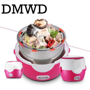 MINI rice cooker heating electric double layer lunch box insulation 2 layers Steamer