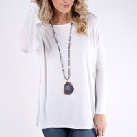 PIKO 1988 Long Sleeve Top - Off White