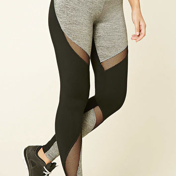 Active Marled Paneled Leggings