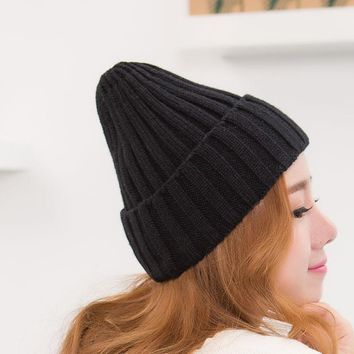 Ms.MinShu Women Beanies Winter Woven Hat Female Cap Knitted Elastic Cap Mom and Baby Same Style Mother Cap Adult Size