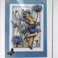 Fairy Hand-Crafted 3D Decoupage Card - With Love (1448)