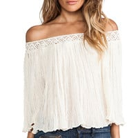 Jen's Pirate Booty Off the Shoulder Top in Blush