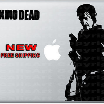 Daryl Dixon v2 - The Walking Dead - Macbook Decal - Laptop Sticker Vinyl - Zombie Decal