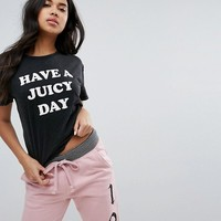 Juicy By Juicy Couture Have a Juicy Day T-shirt at asos.com