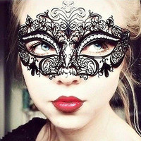 Sexy Black Metal Masquerade Mask Mysterious Ball Mask 50 Shades of grey Halloween Mask