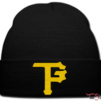 taylor gang pitssburg logo_ beanie knit hat