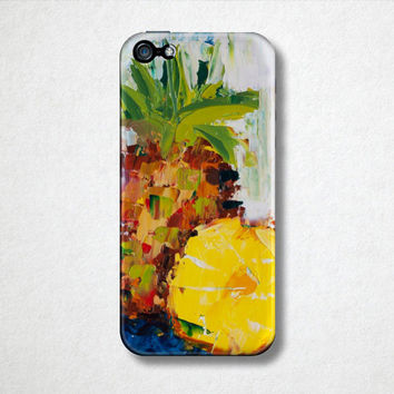 Pineapple Fruit Phone Case  - Tropical iPhone Case - 4S - 5S - Samsung Galaxy - Plastic Hard Case - Oil Painting - Phone Accessories