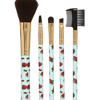 Strawberry Cosmetic Brush Set