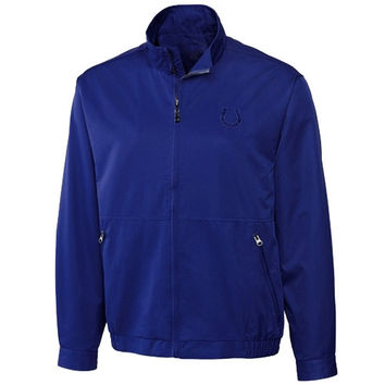 Cutter & Buck Indianapolis Colts Whidbey Full Zip Performance Jacket - Royal Blue