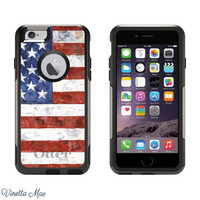 iPhone Otterbox Case for iPhone 5, 5s, 6, 6 Plus American Flag USA Merica United States Red White Blue Custom Cell Phone Case Cover 1086