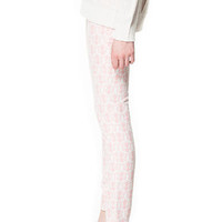 PRINTED TROUSERS - Trousers - Woman - ZARA United States