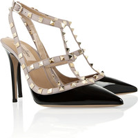 Valentino | Studded patent-leather pumps | NET-A-PORTER.COM
