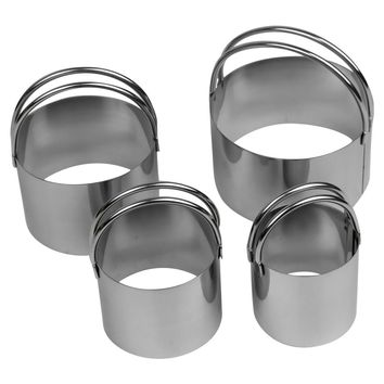 Evelots Endurance 4 Piece Stainless Steel Biscuit Cutter Set, Cookie Cutters