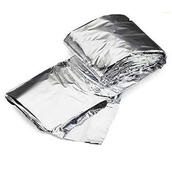 Life-Saving Blanket Emergency Blanket Silver PET Film Coating Foldable Easy To Carry For Camping Adventure Climbing Hiking