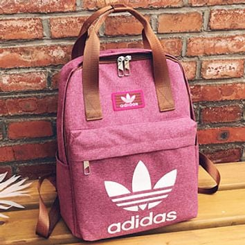 ADIDAS Clover Male and Female Campus College Wind Classic Backpack F-A30-XBSJ pink