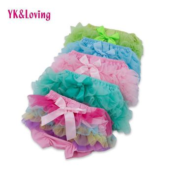 Baby Shorts Retail Bloomers Diaper Cover Toddler Ruffled With Bow