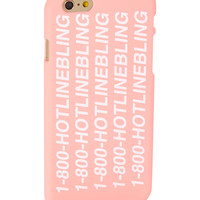 Pink '1-800-Hotlinebling' Hard Case for iPhone