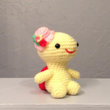 Crocheted Turtle, Little Miss Turtle, stuffed animal, Amigurumi