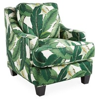 Mizner Club Chair, Banana Leaf