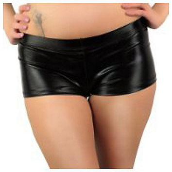 Metallic Black Booty Shorts - Spencer's