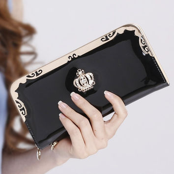 Stylish Crown Leather Wallet for Women