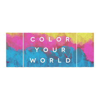 "Galaxy Eyes ""Color Your World"" Rainbow Paint Bed Runner"
