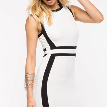 Naomi Contrast Sheath Dress