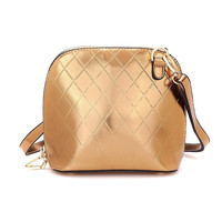 Gold Quilted Bowling Bag