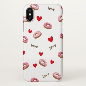 Claire Blossom Pink doughnut iPhone X Case