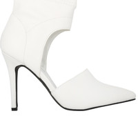 White Cut Out Heel